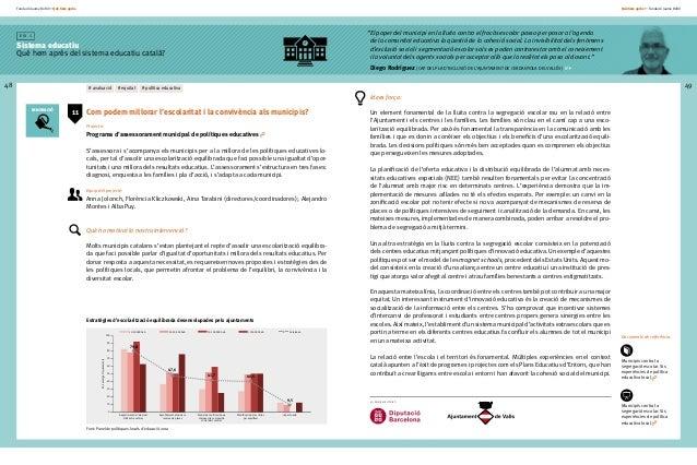 Fundació Jaume Bofill * Què hem après 48 E i x 1 Sistema educatiu Què hem après del sistema educatiu català? Què hem après...