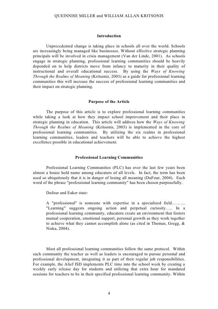 QUEINNISE MILLER and WILLIAM ALLAN KRITSONIS                                         Introduction          Unprecedented c...