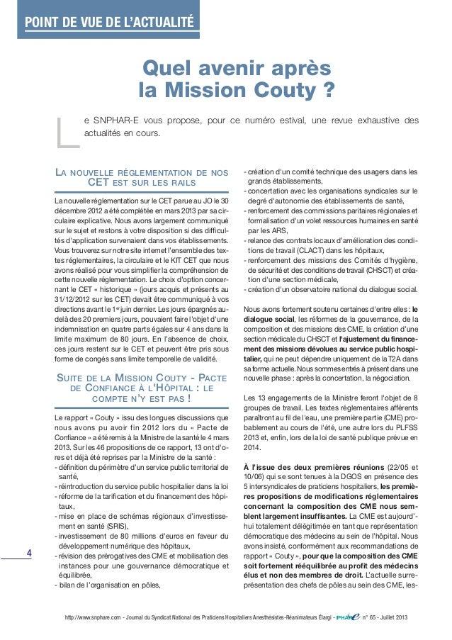 4 LA NOUVELLE RÉGLEMENTATION DE NOS CET EST SUR LES RAILS La nouvelle réglementation sur le CET parue au JO le 30 décembre...