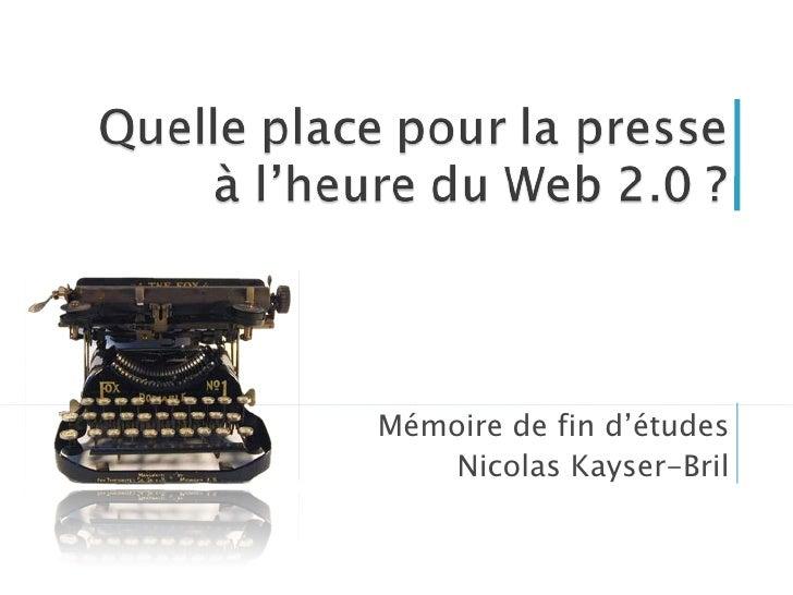 Mémoire de fin d'études Nicolas Kayser-Bril