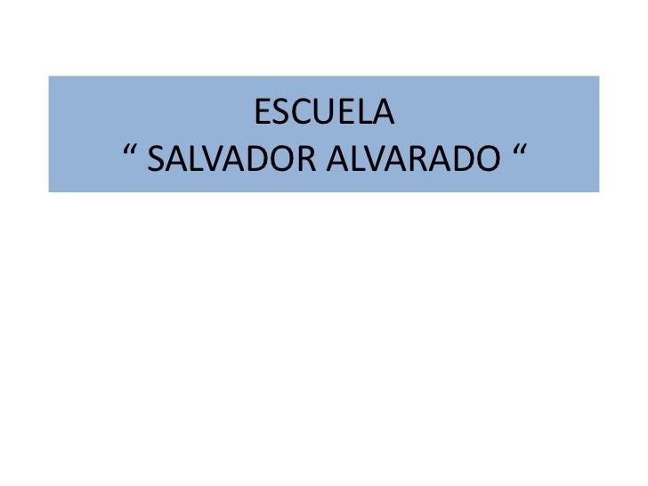 """ESCUELA"""" SALVADOR ALVARADO """""""