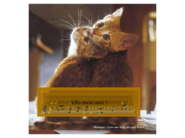 Allo mon ami ! Musique : Love me with all your heart