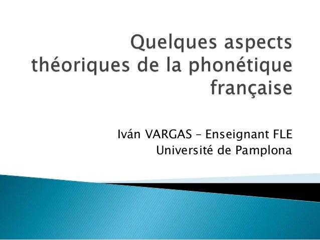Iván VARGAS – Enseignant FLE Université de Pamplona