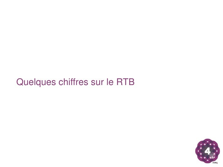 Quelques chiffres sur le RTB