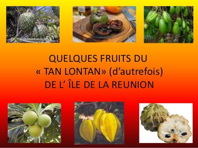 QUELQUES FRUITS DU« TAN LONTAN» (d'autrefois)  DE L' ÎLE DE LA REUNION