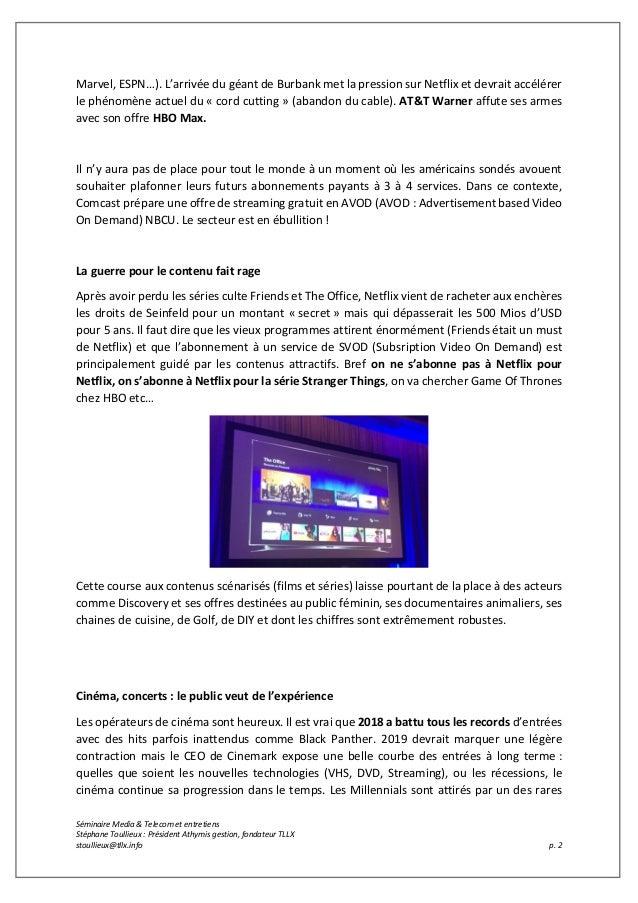 Conférence a Medias et Telecoms 2019 Slide 2