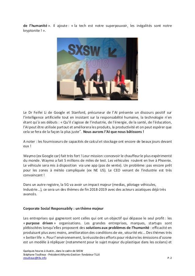 Quelques heures à Austin...dans le cadre de SXSW 2018 Slide 2