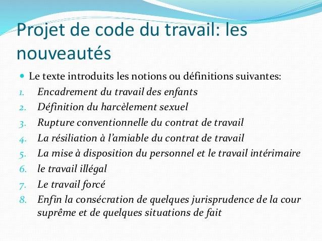 Quelques remarques sur le projet de code de travail algérien version …