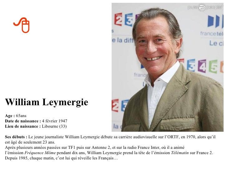 Quels ages ont ils en 2012 - Quel age a william leymergie ...
