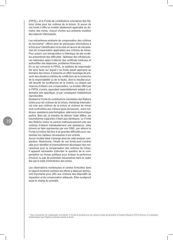 (FIPOL), et le Fonds de contributions volontaires des Na-      tions Unies pour les victimes de la torture. Si aucun de   ...
