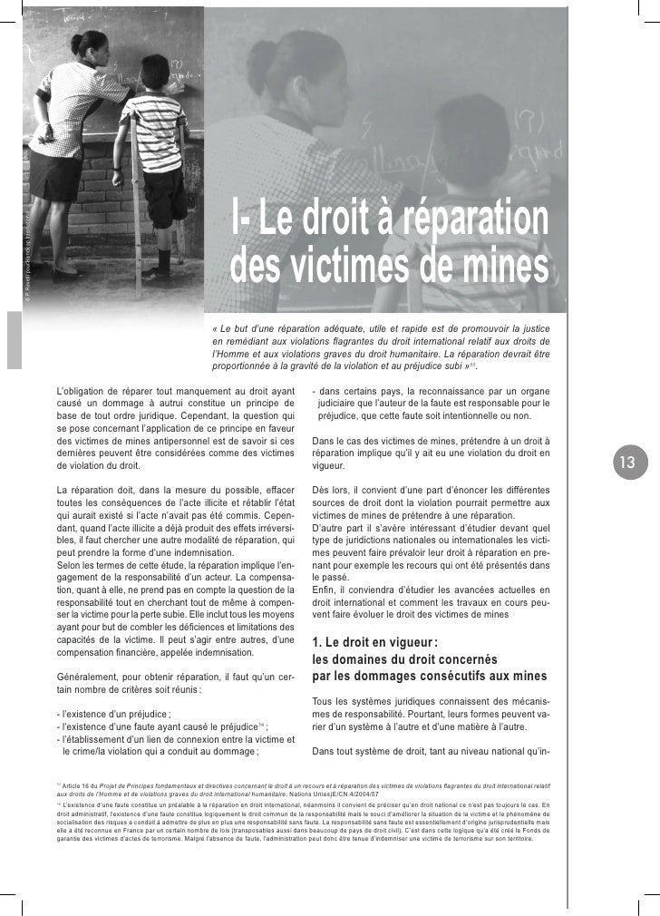 I- Le droit à réparation © P. Revelli pour Handicap International                                                         ...