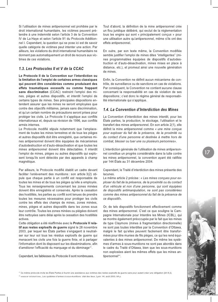 HI 72f - Quels droits pour les victimes de mines ? (French)