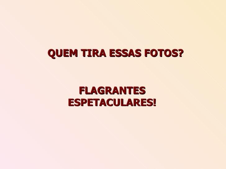 QUEM TIRA ESSAS FOTOS? FLAGRANTES ESPETACULARES!