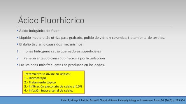 Otros químicos Químico Álcalis fuertes (cal, hidróxido sódico e hidróxido potásico  La cal debe cepillarse y para irrigar...