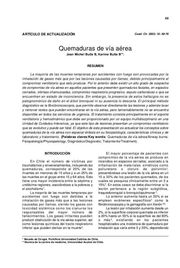 69ARTÍCULO DE ACTUALIZACIÓN                                                            Cuad. Cir. 2002; 16: 69-76         ...