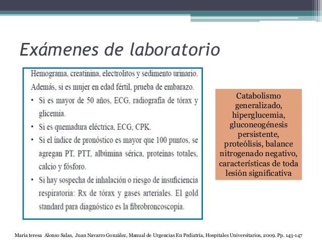 Exámenes de laboratorio María teresa Alonso Salas, Juan Navarro González, Manual de Urgencias En Pediatría, Hospitales Uni...