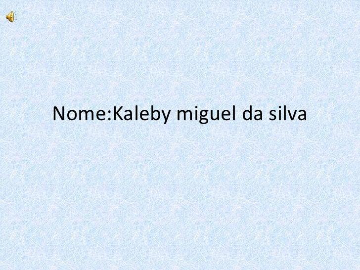 Nome:Kaleby miguel da silva