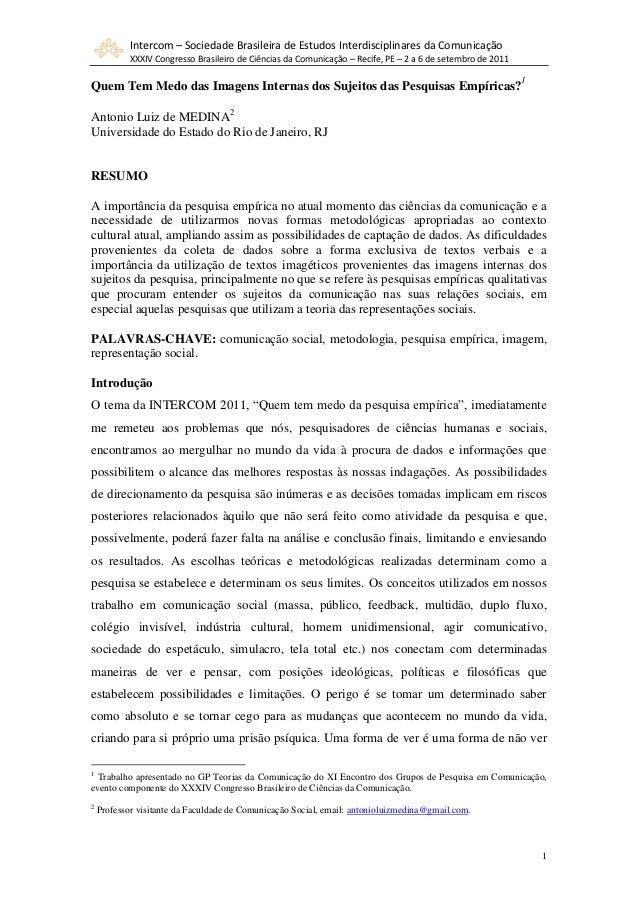 Intercom – Sociedade Brasileira de Estudos Interdisciplinares da Comunicação            XXXIV Congresso Brasileiro de Ciên...