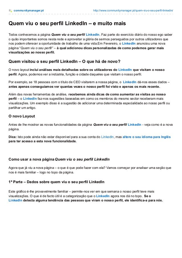 communitymanager.pt http://www.communitymanager.pt/quem-viu-o-seu-perfil-linkedin/ Quem viu o seu perfil LinkedIn – e muit...