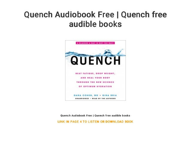 Quench Audiobook Free | Quench free audible books