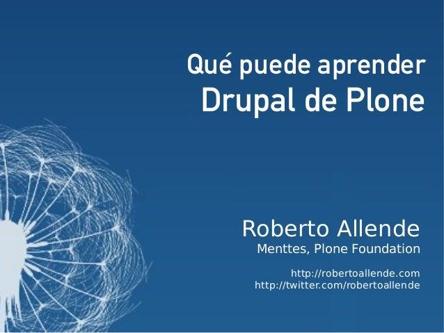Qué puede aprender Drupal de Plone