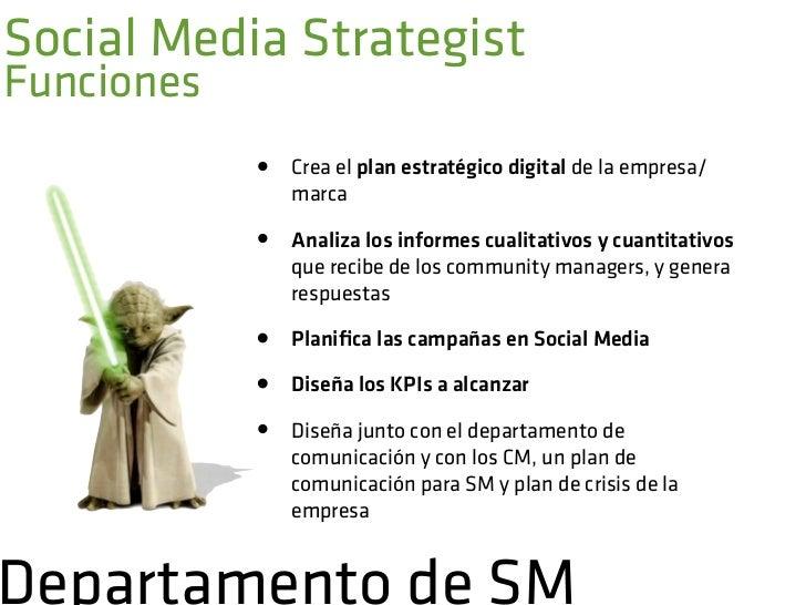 Social Media StrategistCapacidades    •   Amplios conocimientos de branding    •   Destreza en la coordinaciónde equipos ...