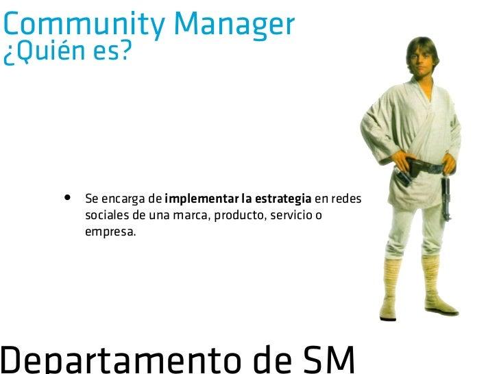 Community ManagerPerfiles       Social Media Analyst Moderador                    Content ManagerDepartamento de SM
