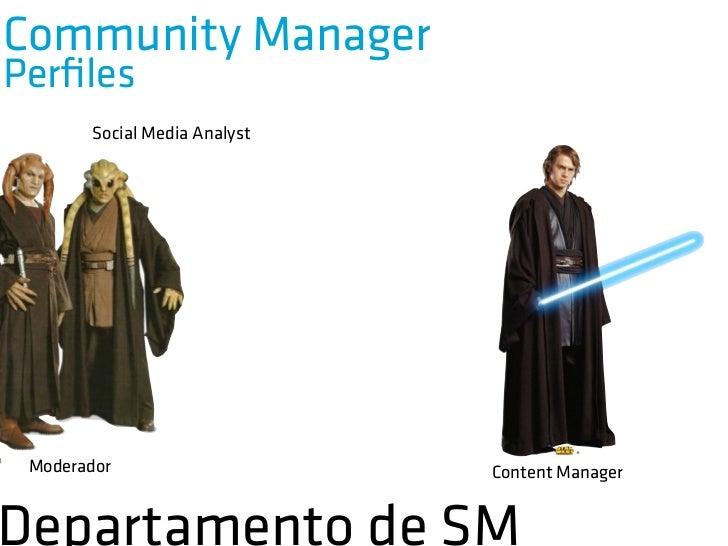 Community ManagerPerfiles          Social Media Analyst          Monitoriza la red realizando          informes cualitativo...
