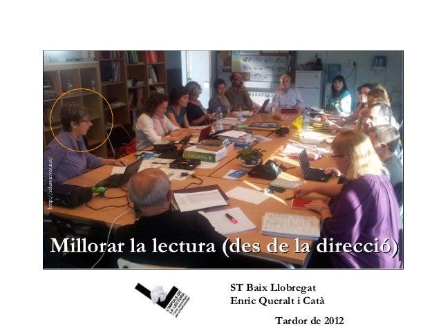 http://ielesvinyes.net/           Millorar la lectura (des de la direcció)                                   ST Baix Llobr...
