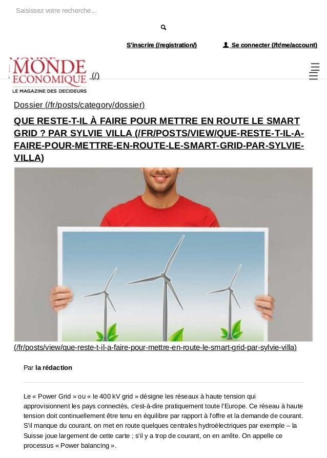 """S'inscrire (/registration/) ! Se connecter (/fr/me/account) Saisissez votre recherche... (/) """" Dossier (/fr/posts/category..."""
