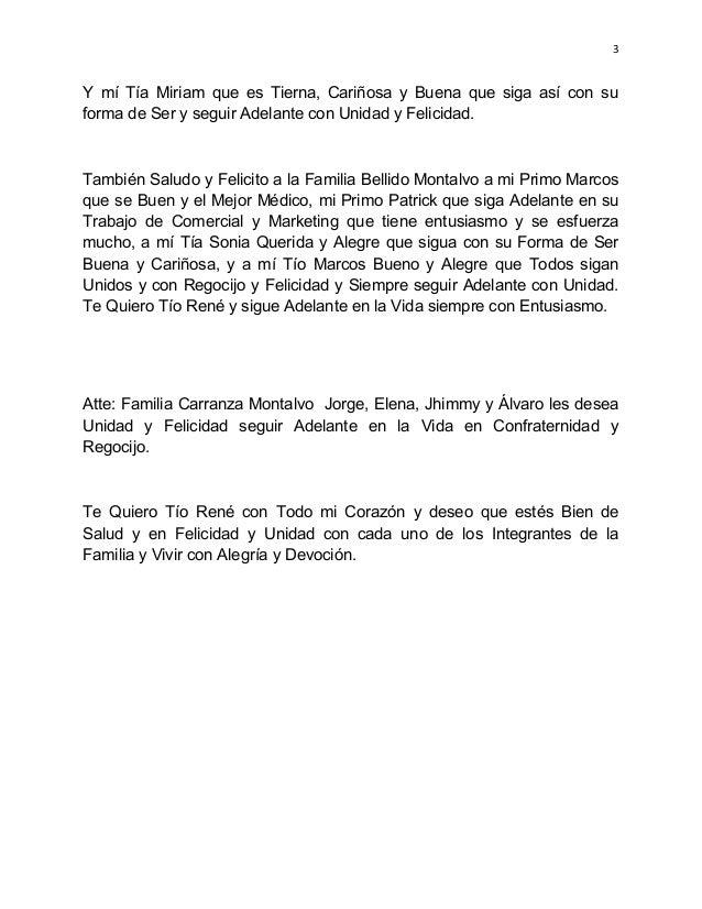 Querido tío rené y familia, Médico Especialista Álvaro Miguel Carranz…