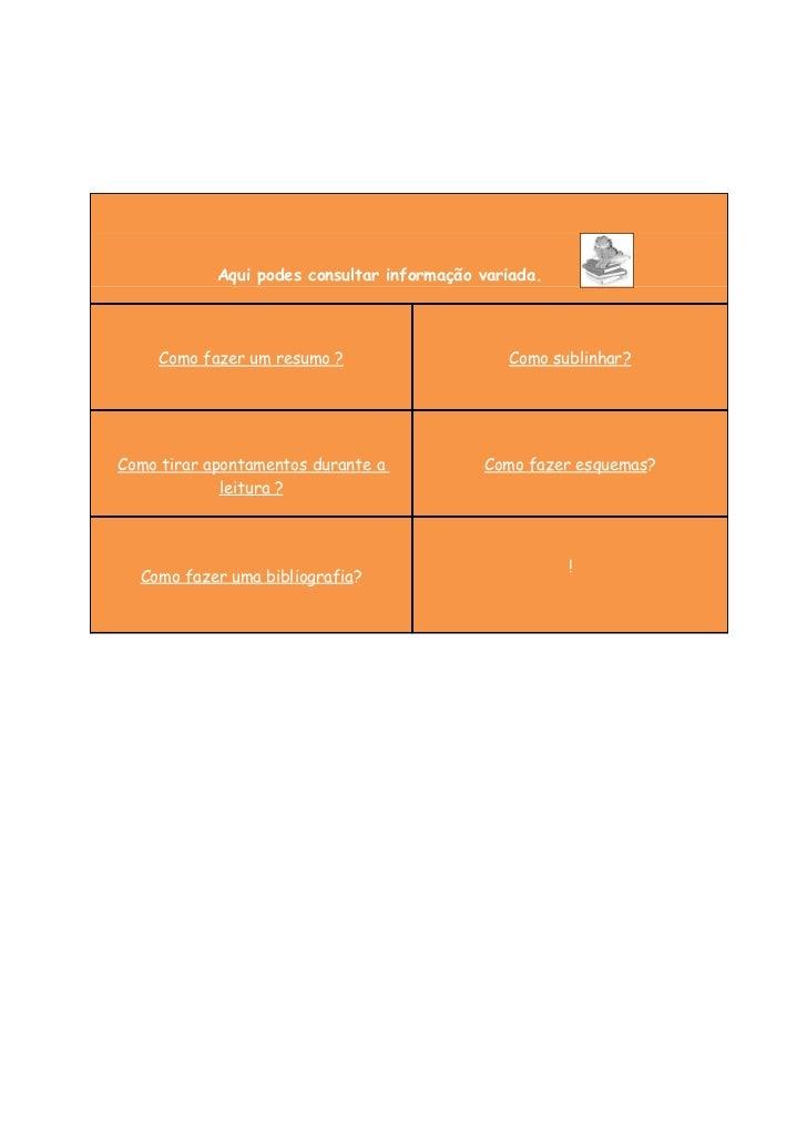 Aqui podes consultar informação variada.     Como fazer um resumo ?                    Como sublinhar?Como tirar apontamen...