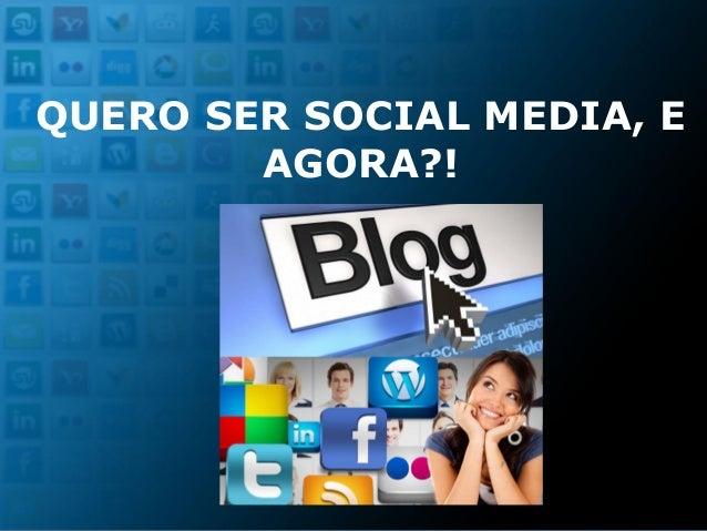 Curso de Extensão Planejamento em Mídias Sociais FACHA QUERO SER SOCIAL MEDIA, E AGORA?!