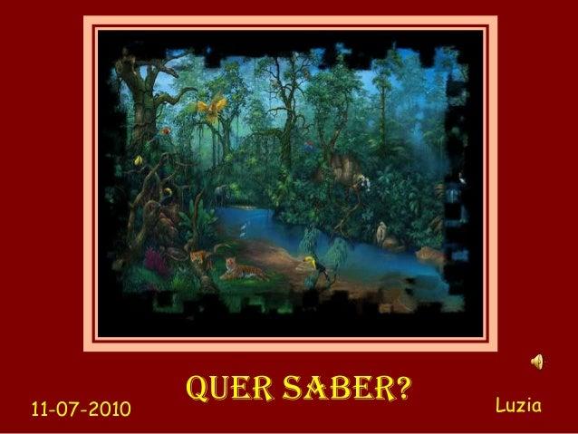 11-07-2010             QUER SABER?   Luzia