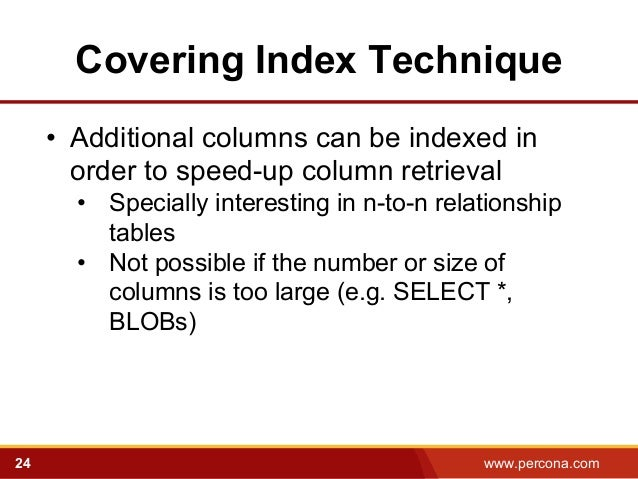 Query Optimization with MySQL 5.6: Old and New Tricks - Percona Live … slideshare - 웹