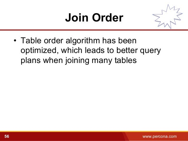 Query Optimization with MySQL 5.6: Old and New Tricks - Percona Live …