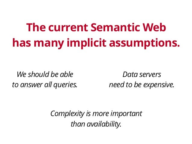 Querying data on the Web – client or server? Slide 2