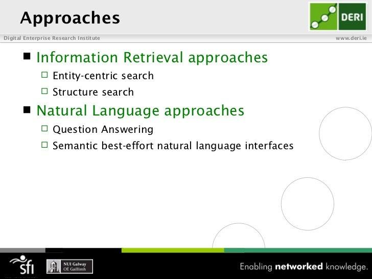 ApproachesDigital Enterprise Research Institute                                www.deri.ie           Information Retrieva...