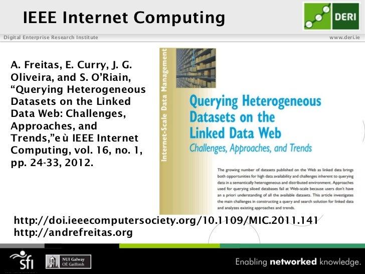 IEEE Internet ComputingDigital Enterprise Research Institute                        www.deri.ie  A. Freitas, E. Curry, J. ...