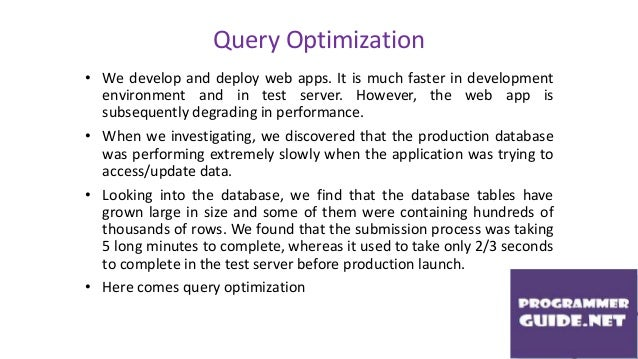 query optimization paper In this paper, we report on our experience in building the eds optimizer which   of known query optimization techniques, mainly for dealing with joins, the most.