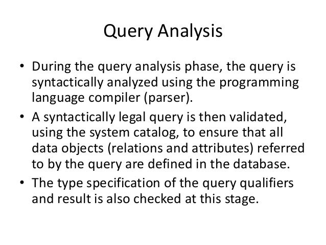 query processing and optimization pdf
