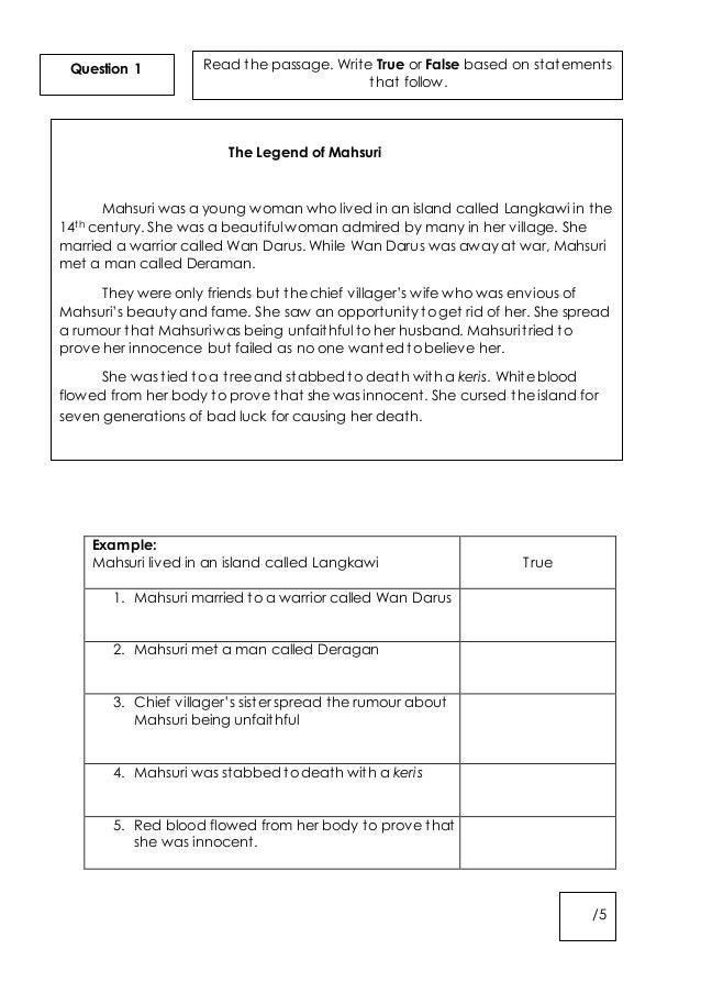 Year 5 English Worksheets : Worksheet english year kssr kidz activities