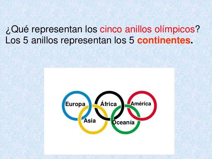 Que representa los 5 anillos de las olimpiadas