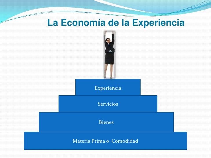 La Economía de la Experiencia<br />Experiencia<br />Servicios<br />Bienes<br />Materia Prima o  Comodidad<br />