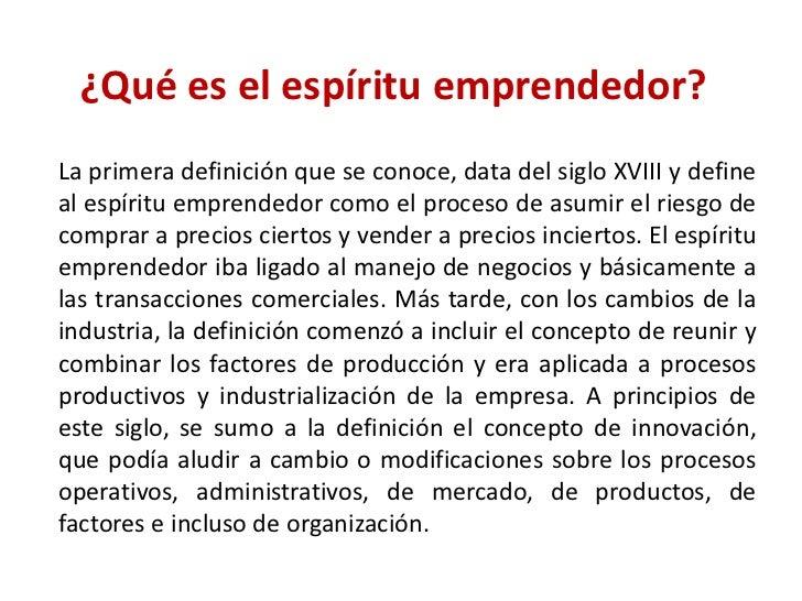 1fe1f884b8b3 ¿Qué es el espíritu emprendedor  br   La primera definición que se ...