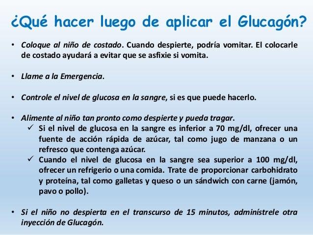 Administración del Glucagón para la hipoglucemia severa