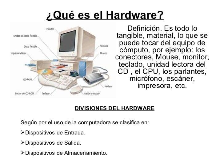 qu es el hardware