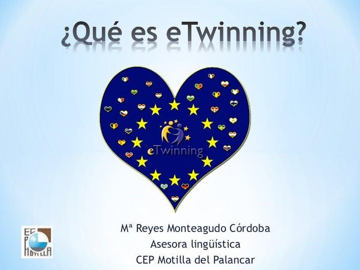 Mª Reyes Monteagudo Córdoba Asesora lingüística CEP Motilla del Palancar
