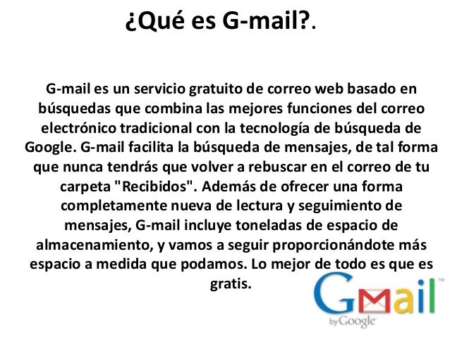 Qué es g mail