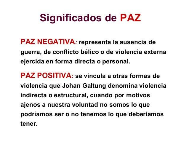 Qu es la paz 2009 for Significado exterior